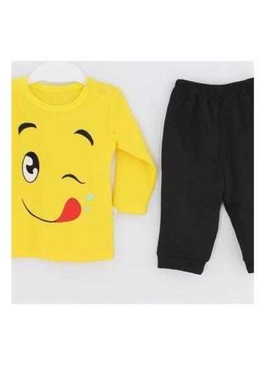 Tomuycuk Şımarık Emoji 75310   Organik Bebek Giyim Sarı